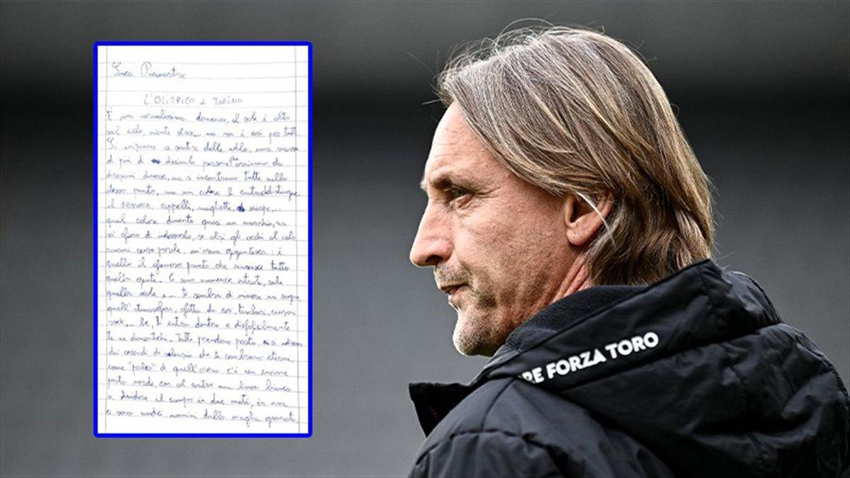 Torino, Nicola carica la squadra col tema di un piccolo tifoso