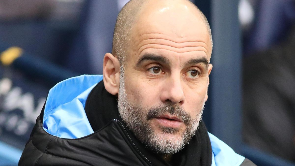 Manchester City manager Pep Guardiola during the FA Cup match between Manchester City and Fulham