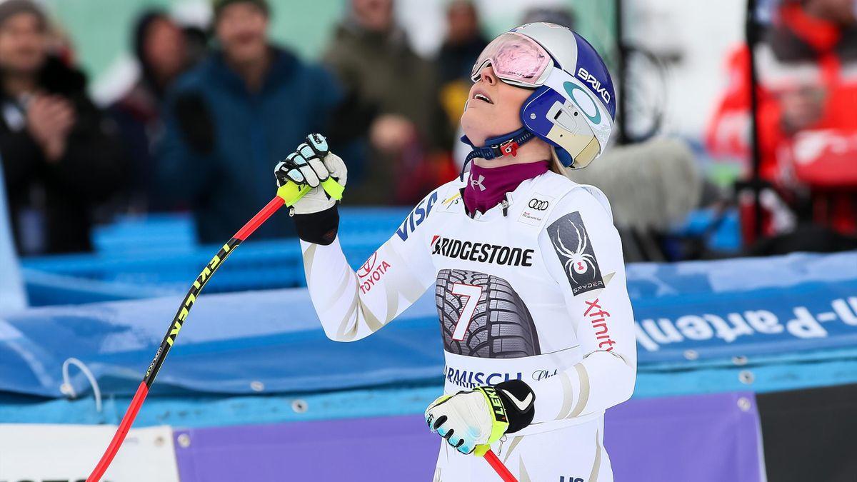 Lindsey Vonn à Garmisch-Partenkirchen (2018).