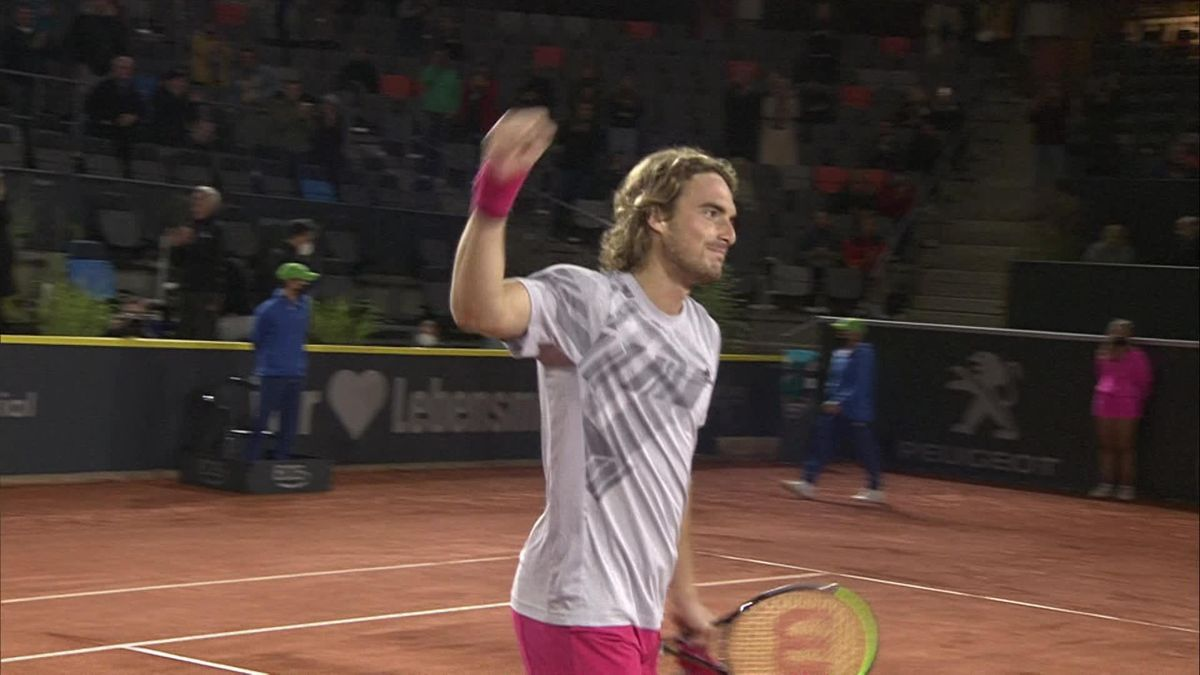 ATP Hamburg: Tsitsipas match point versus Garin