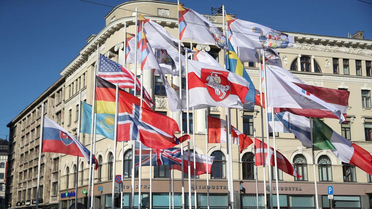 Флаги на ЧМ-2021 в Риге