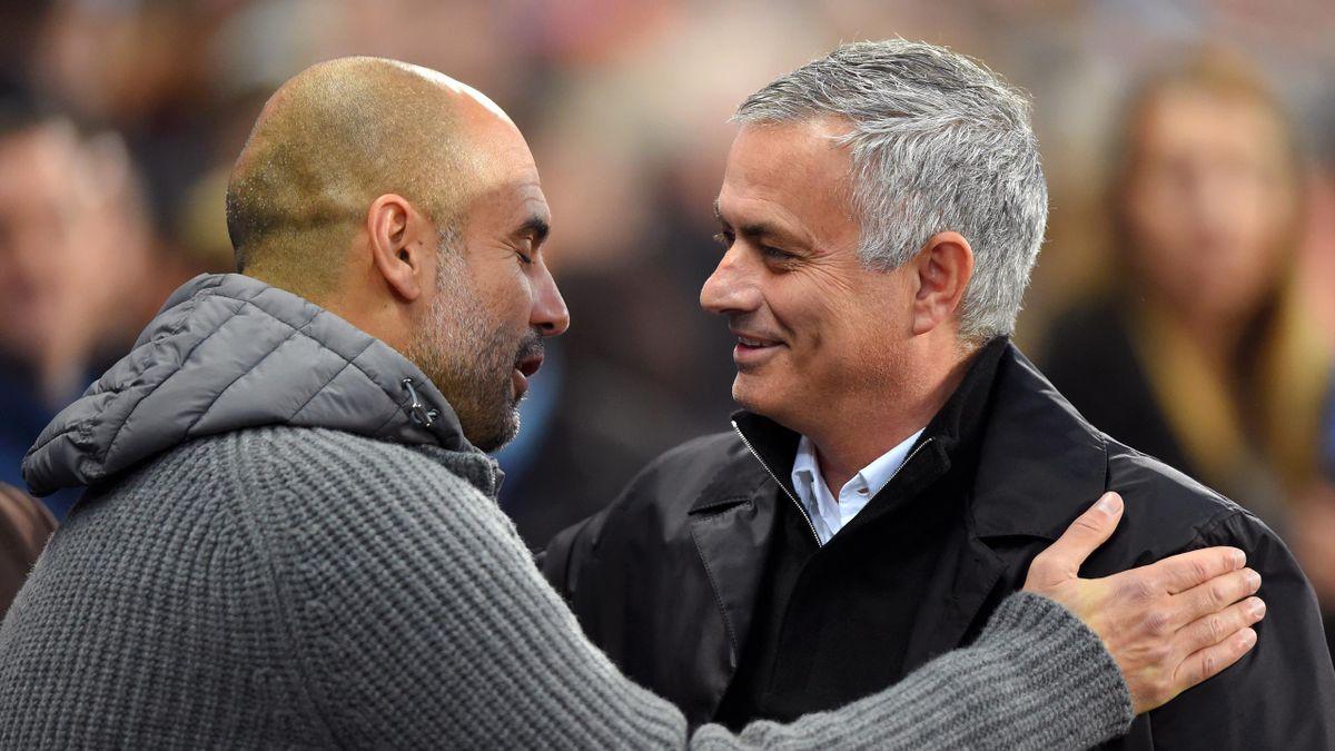 José Mourinho (rechts) und Pep Guardiola