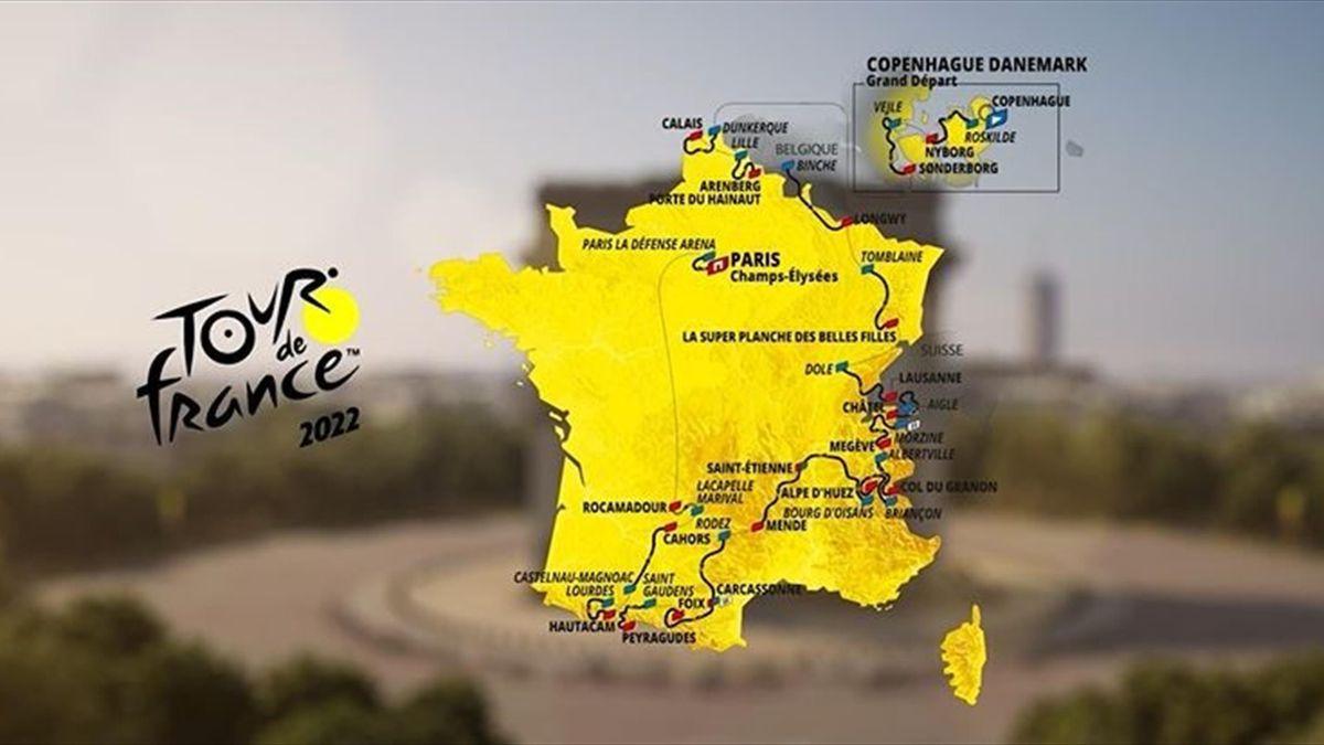 Un départ au Danemark, des pavés, l'Alpe d'Huez... La carte du Tour de France 2022 décryptée en 3D