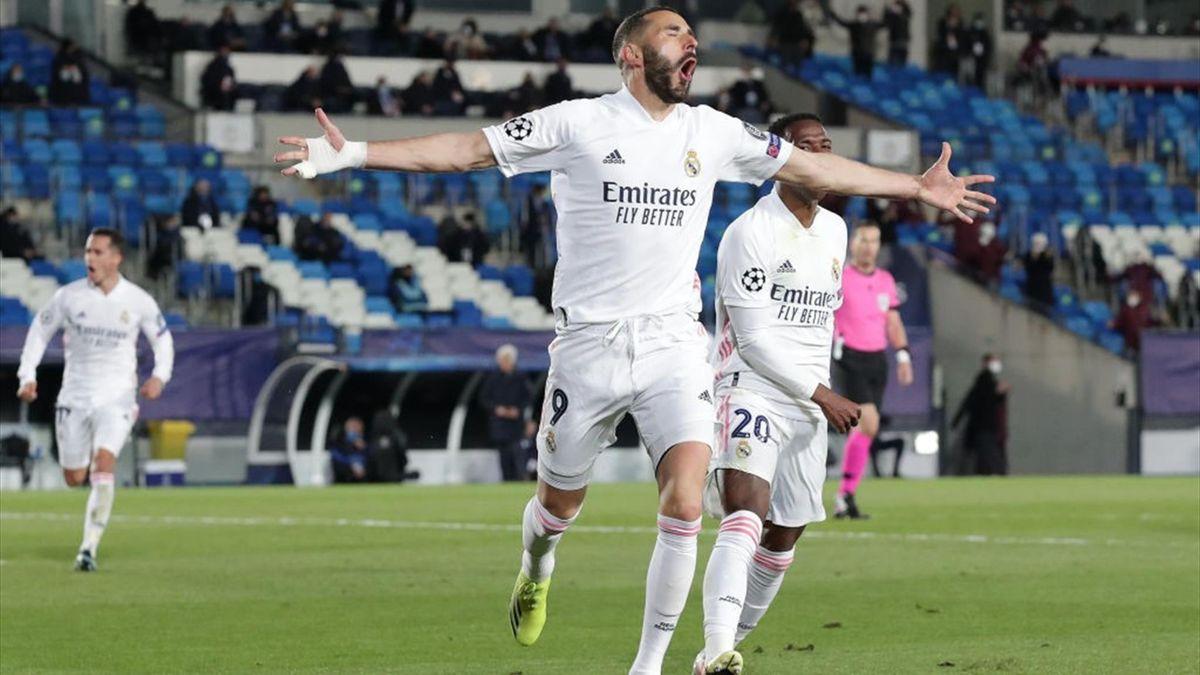 Karim Benzema - Real Madrid-Atalanta - Champions League 2020-2021