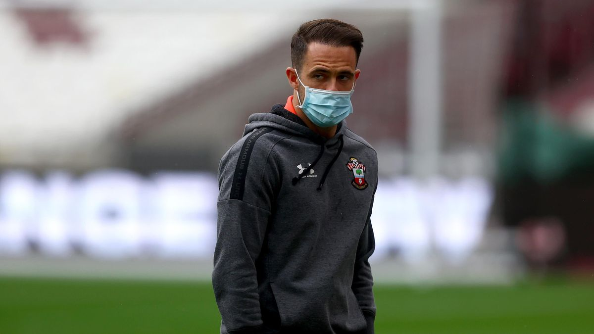 Danny Ings of Southampton ahead of the Premier League match between West Ham United and Southampton at London Stadium