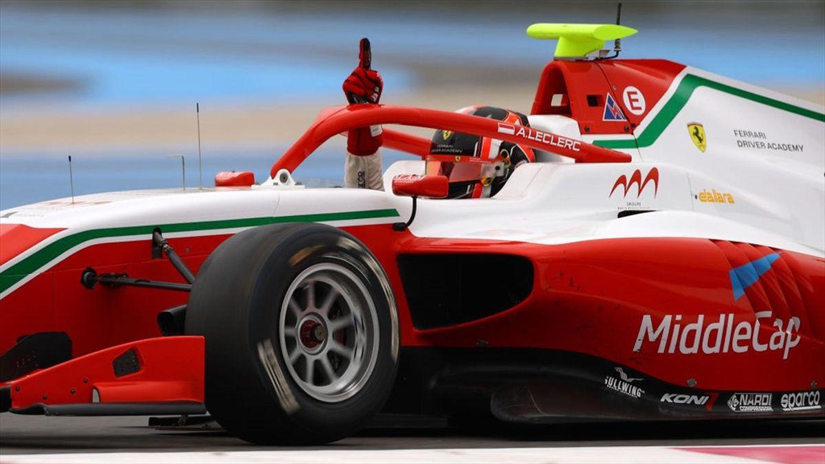 Arthur Leclerc (Prema) vainqueur de la Course 2 de Formule 3 au au Castellet le 19 juin 2021
