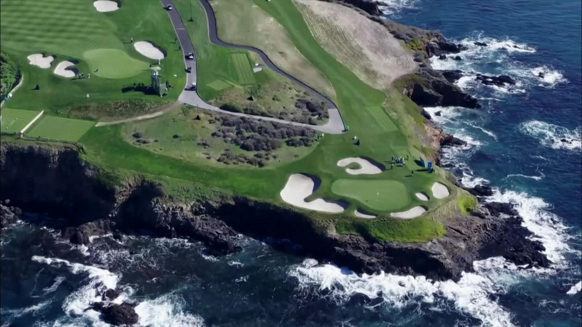 Golf : PGA Tour Pebble Beach Day 2 : highlights