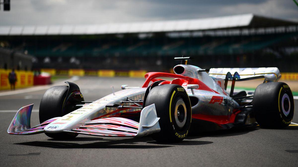 Le prototype de la F1 2022 présenté ce jeudi 15 juillet 2021 à Silverstone.