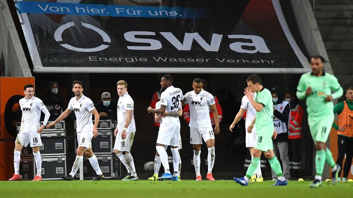 Augsburg gewinnt gegen Gladbach