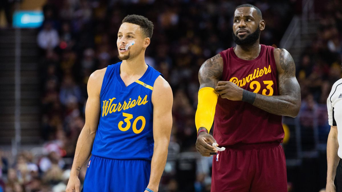 Stephem Curry (Warriors) et LeBron James (Cavaliers)