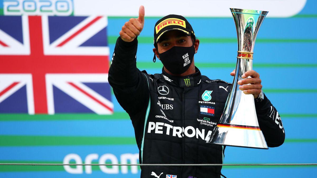 Lewis Hamilton holte beim Großen Preis der Eifel seinen 91. Grand-Prix-Sieg