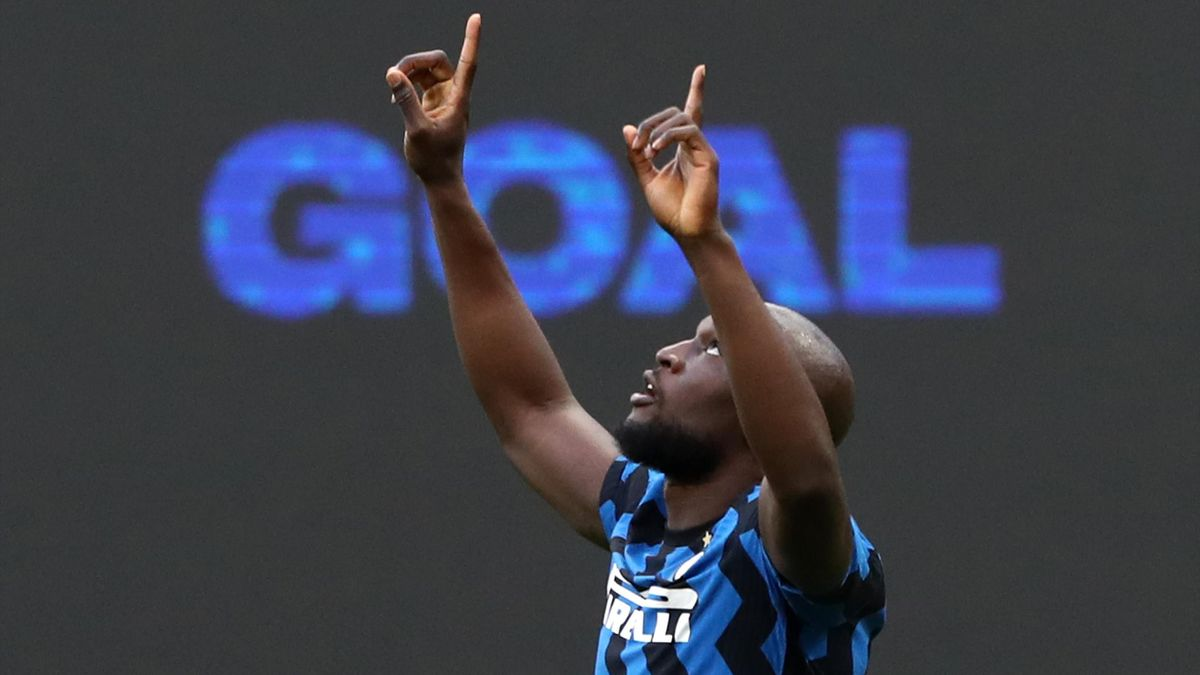 Romelu Lukaku esultanza Inter-Sassuolo, Getty Images