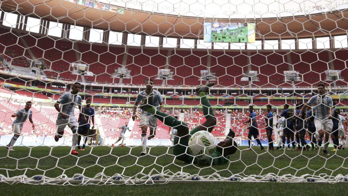 Argentina draw 1-1 with Honduras at Rio
