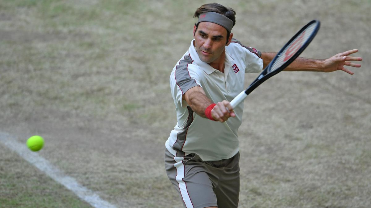 Roger Federer en los cuartos de final de Halle frente a Roberto Bautista