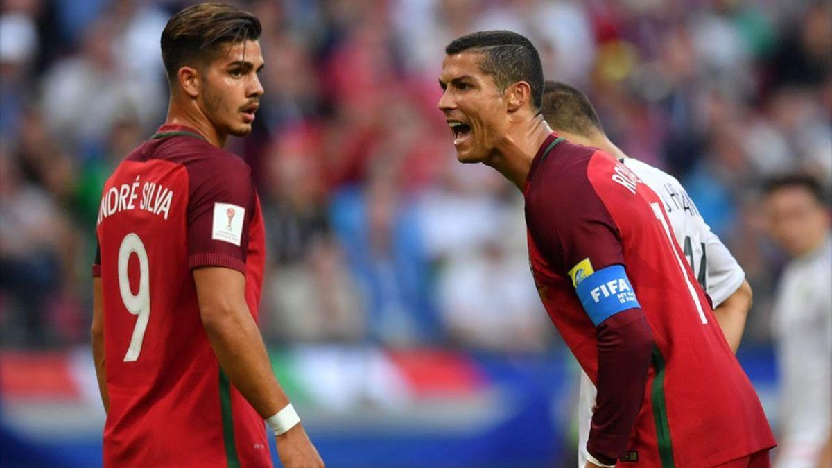 André Silva, Cristiano Ronaldo - Portugal-Mexico - FIFA Confederation Cup 2017 - Getty Images