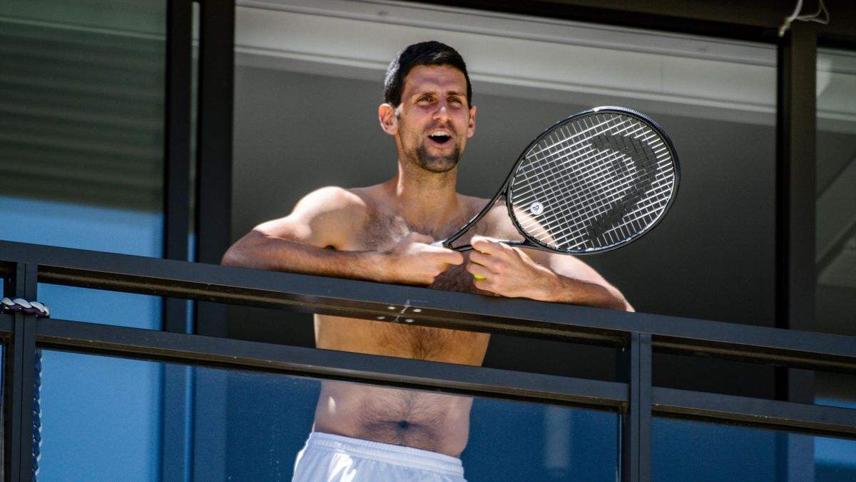 Novak Djokovic im Quarantäne-Hotel bei den Australien Open