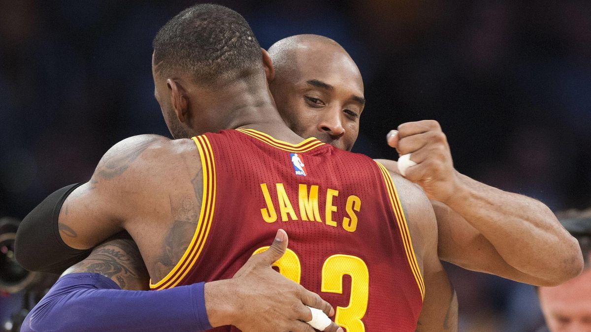 LeBron James et Kobe Bryant en 2016.