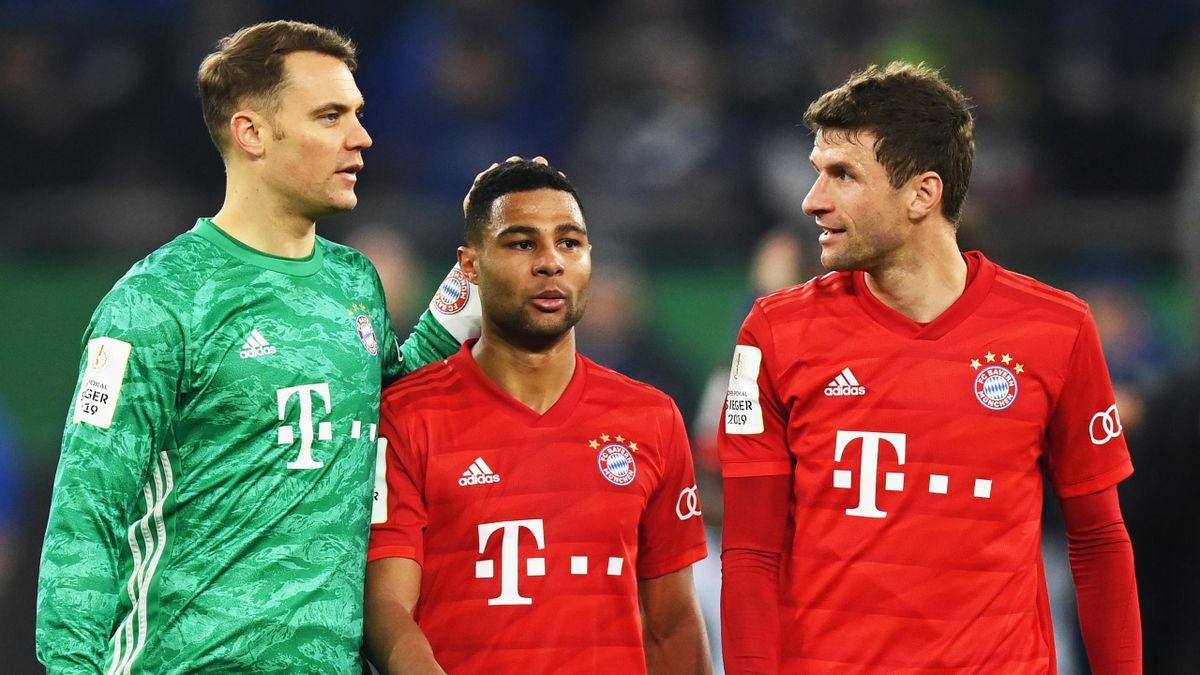 Bayern-Stars Neuer, Gnabry, Müller (v.l.n.r.)