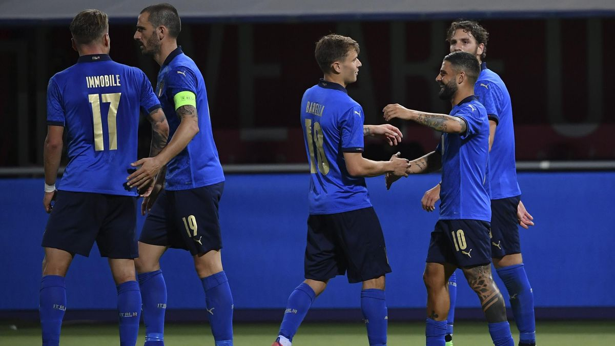 L'esultanza dell'Italia contro la Repubblica Ceca