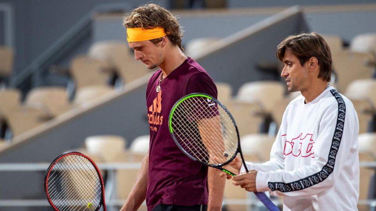 Alexander Zverev (l.) und David Ferrer
