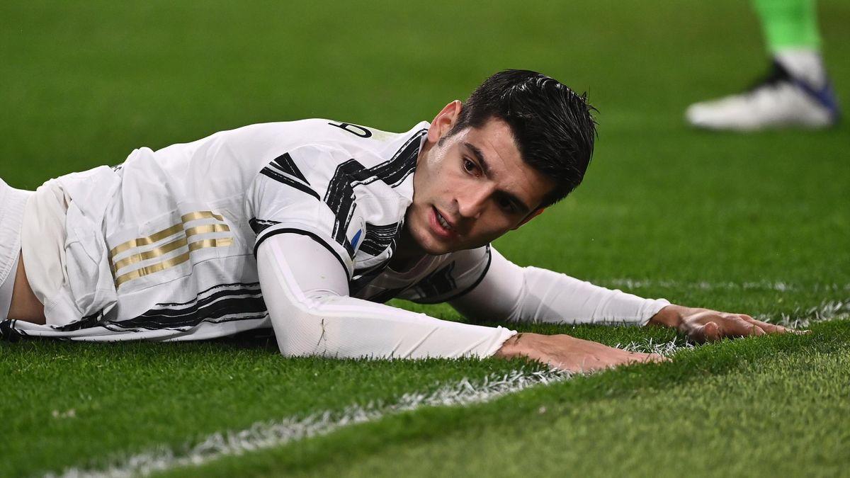 Alvaro Morata, frustrazione dopo un gol sbagliato, Juventus-Atalanta, Serie A 2020-21, Getty Images