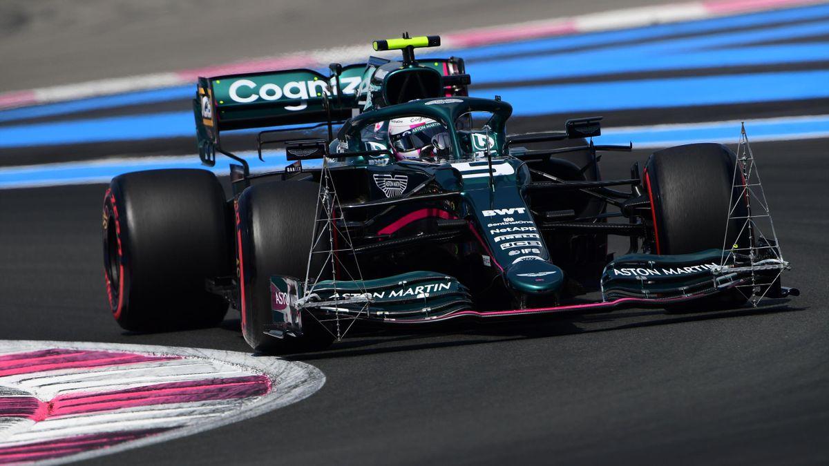 Sebastian Vettel (Aston Martin) in Frankreich in Aktion
