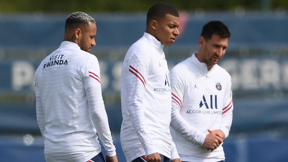 Neymar, Kylian Mbappe and Lionel Messi