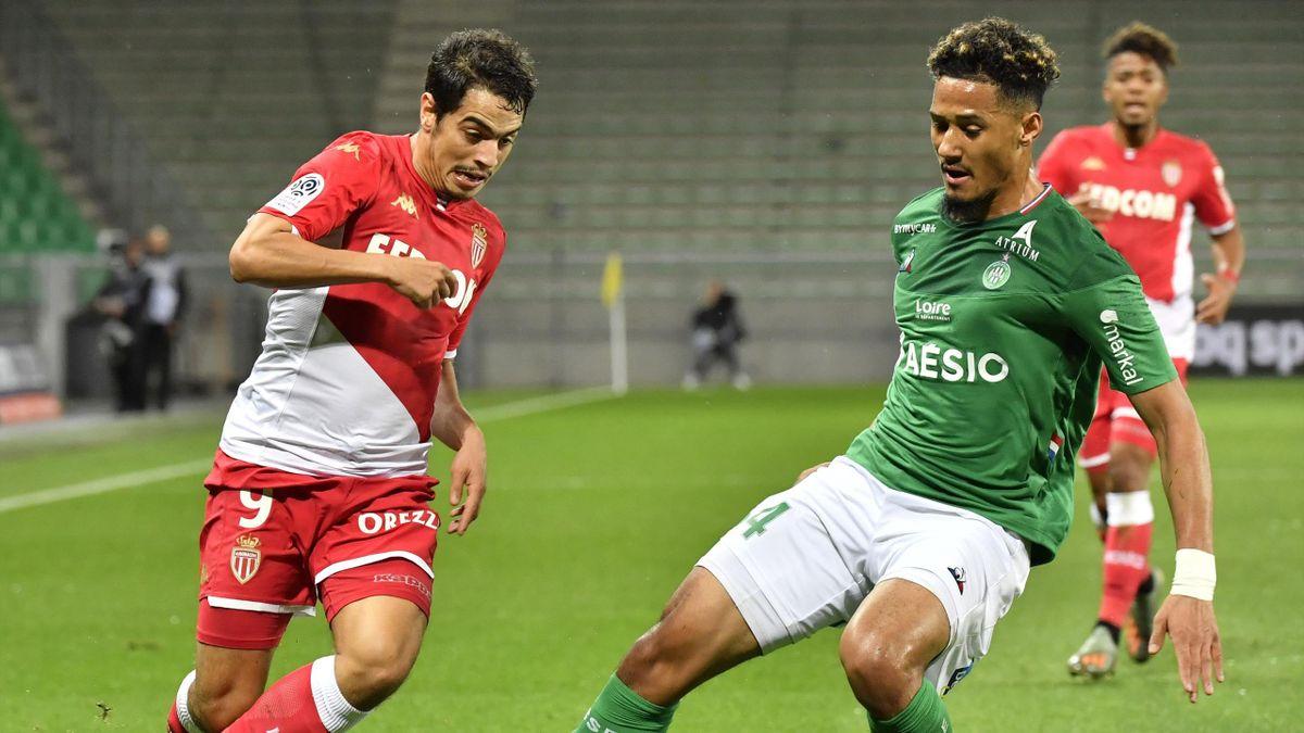 Le duel entre Wissam Ben Yedder (Monaco) et William Saliba (Saint-Etienne) en Ligue 1