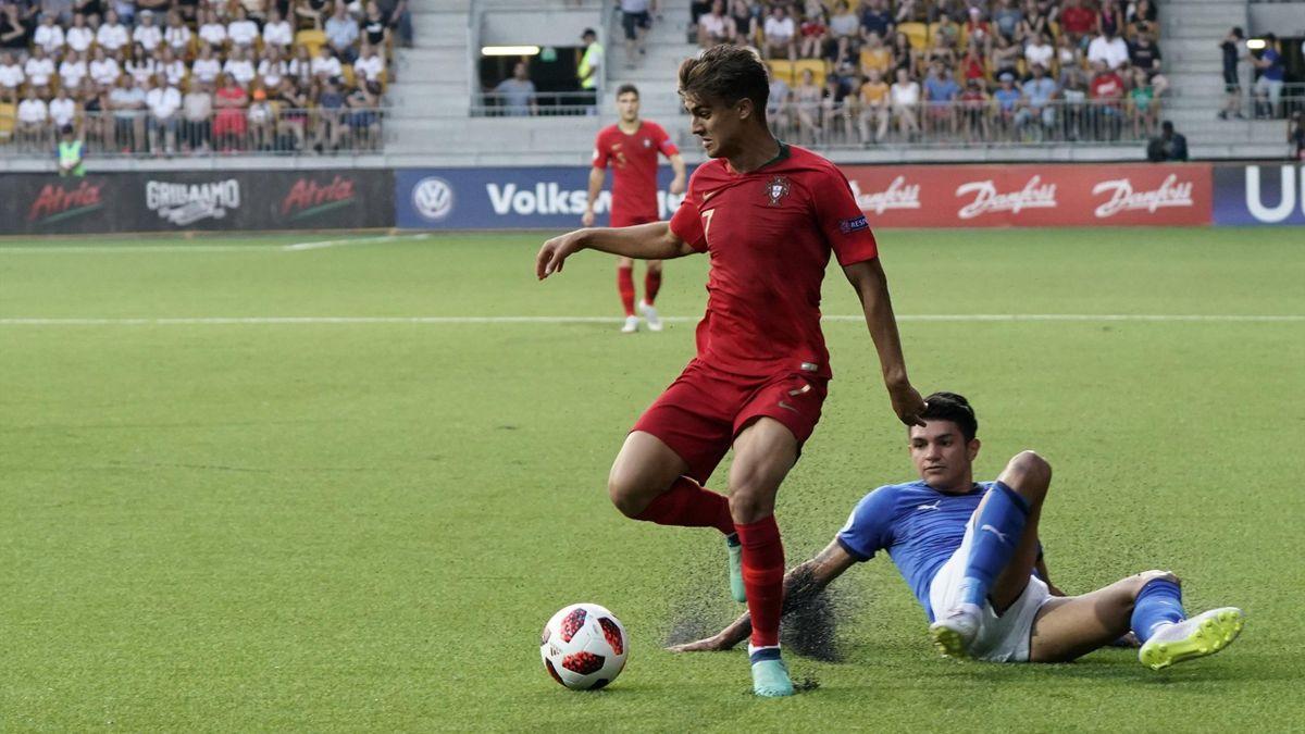 Joao Filipe (Portugal), buteur face à l'Italie en finale de l'Euro U19