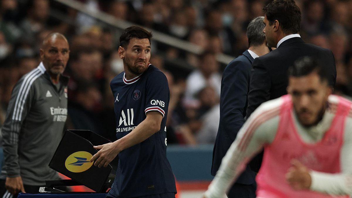 Лионель Месси и Маурисио Почеттино в матче «ПСЖ» – «Лион»