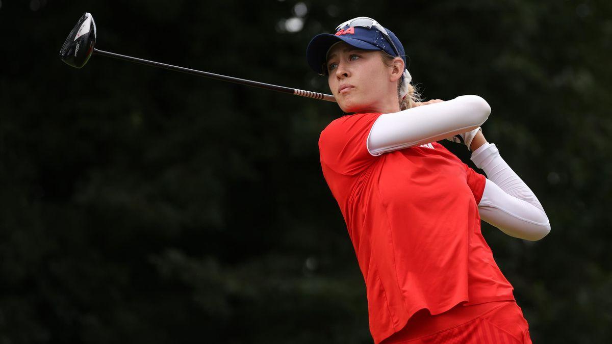 La golfeuse Nelly Korda lors du tournoi olympique à Tokyo en 2021