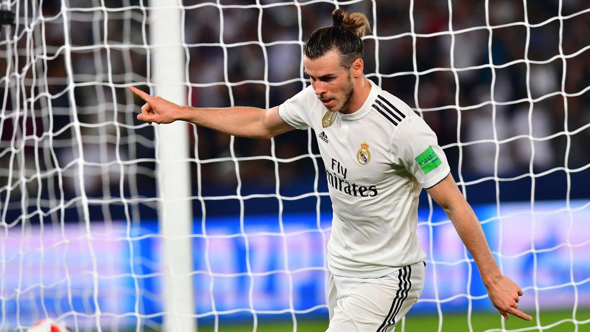 Bale celebrando el primer tanto ante el Kashima