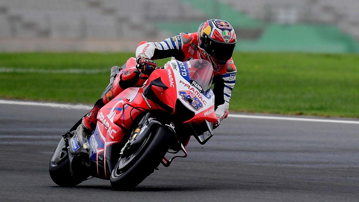 Jack Miller (Ducati Pramac) lors des essais libres du Grand Prix d'Europe, à Valence, le 6 novembre 2020