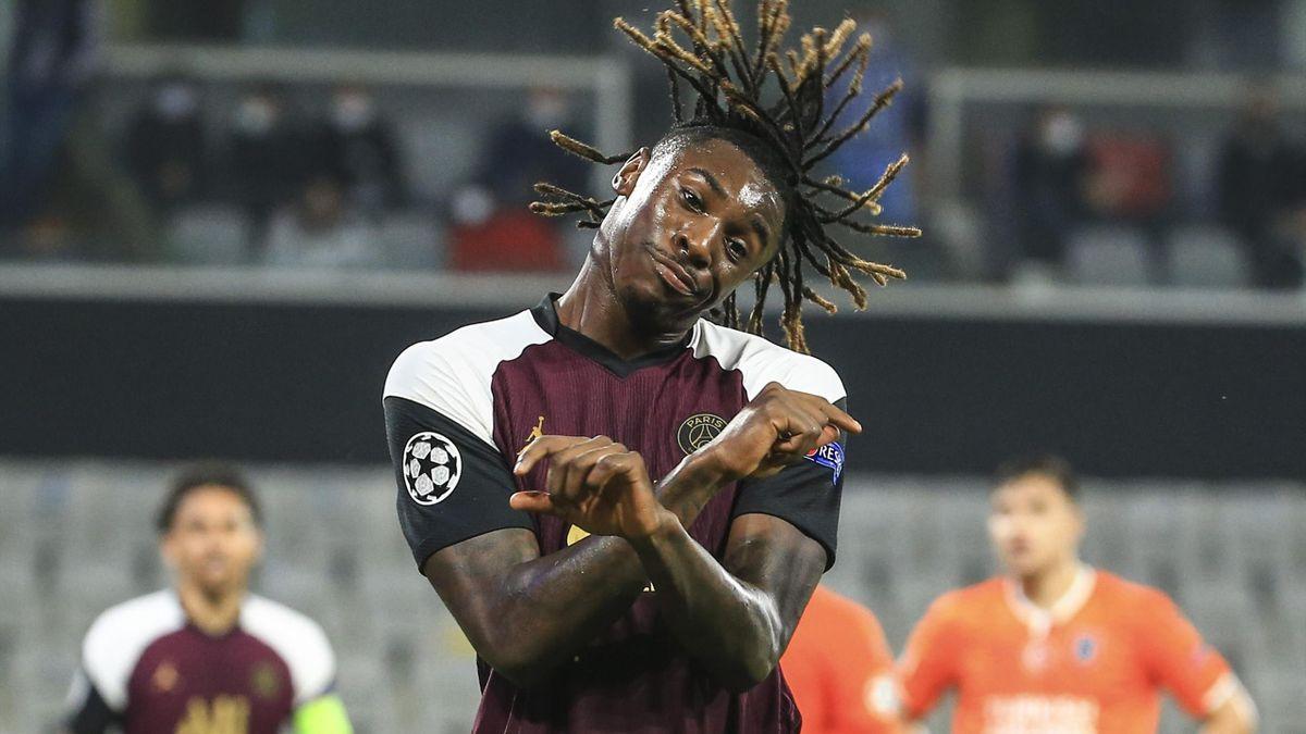 Moise Kean, l'attaquant du PSG