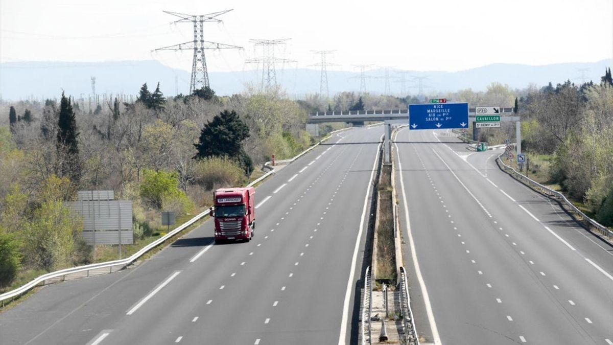 Un tratto autostradale in Francia