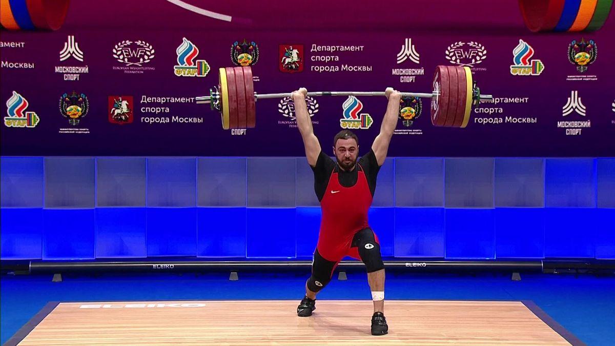 Súlyemelő Eb Oroszország MARTIROSYAN 212 kg