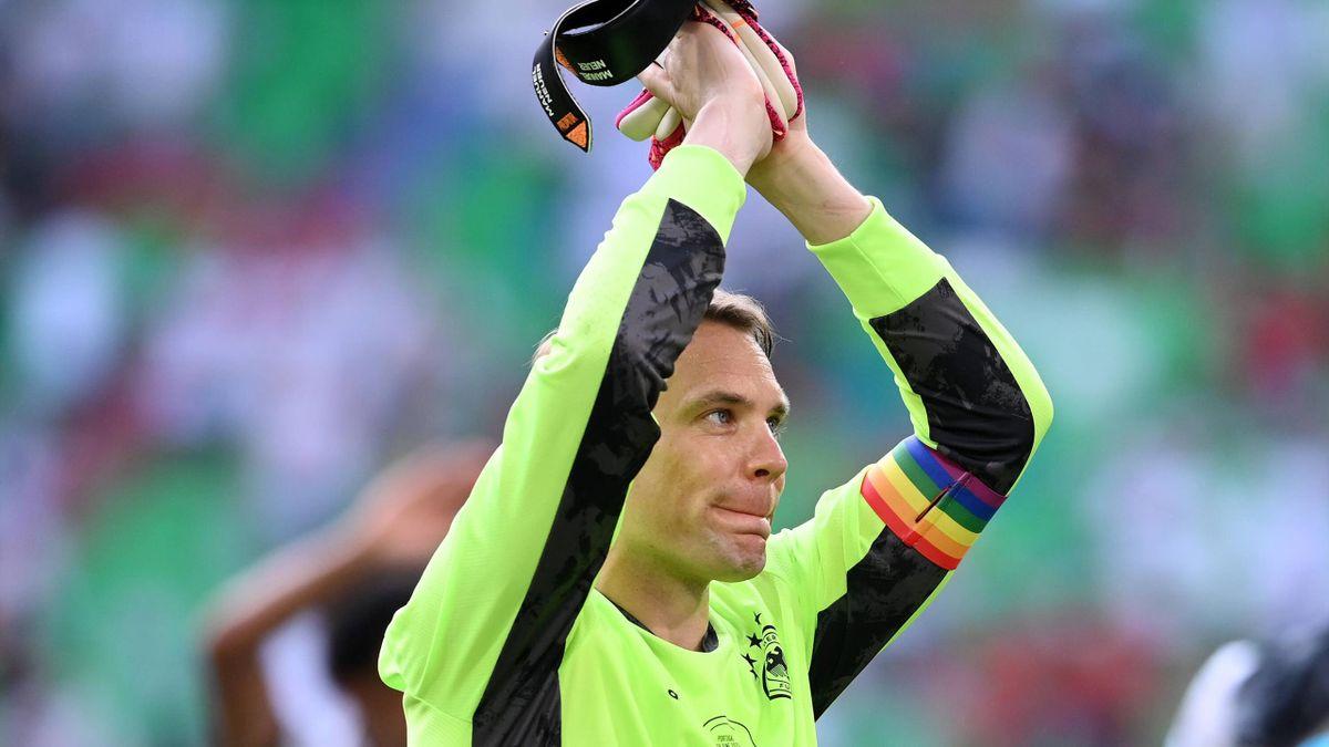 DFB-Kapitän Manuel Neuer nach dem EM-Spiel gegen Portugal