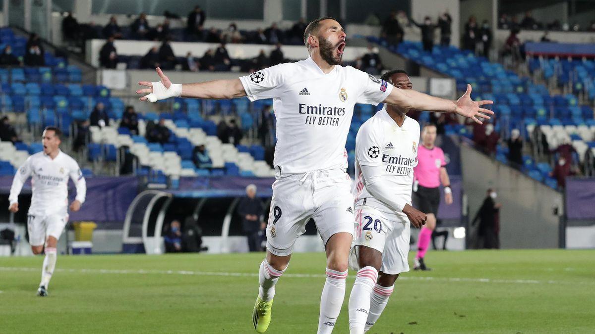 Benzema (Real) buteur face à l'Atalanta