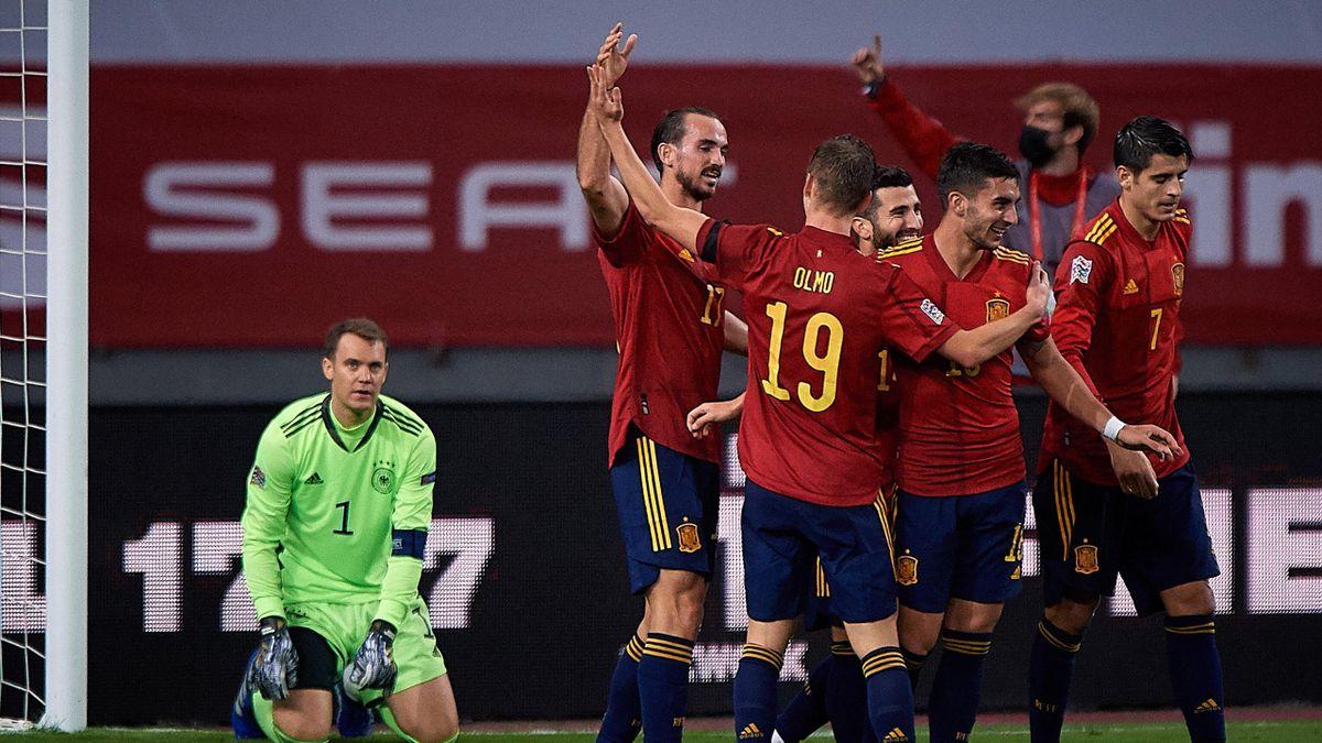 Des einen Freud ist des anderen Leid: Manuel Neuer (links) und die Stars der spanischen Nationalmannschaft