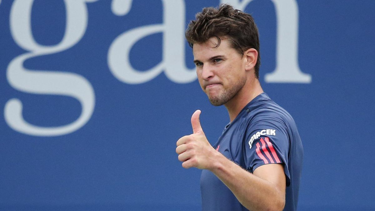 Dominic Thiem of Austria reacts while he plays against Pablo Carreno Busta of Spain during their 2016 US Open Men's Singles match at the USTA Billie Jean King National Tennis Center in New York on September 3, 2016.