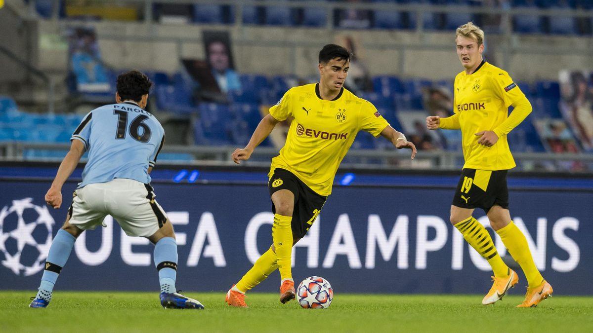 Reinier (Mitte; Borussia Dortmund) im Spiel gegen Lazio Rom