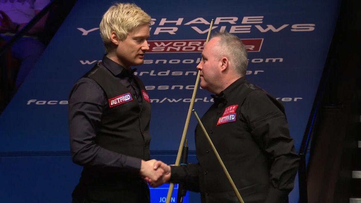 World Championship Sheffield: Match end Higgins