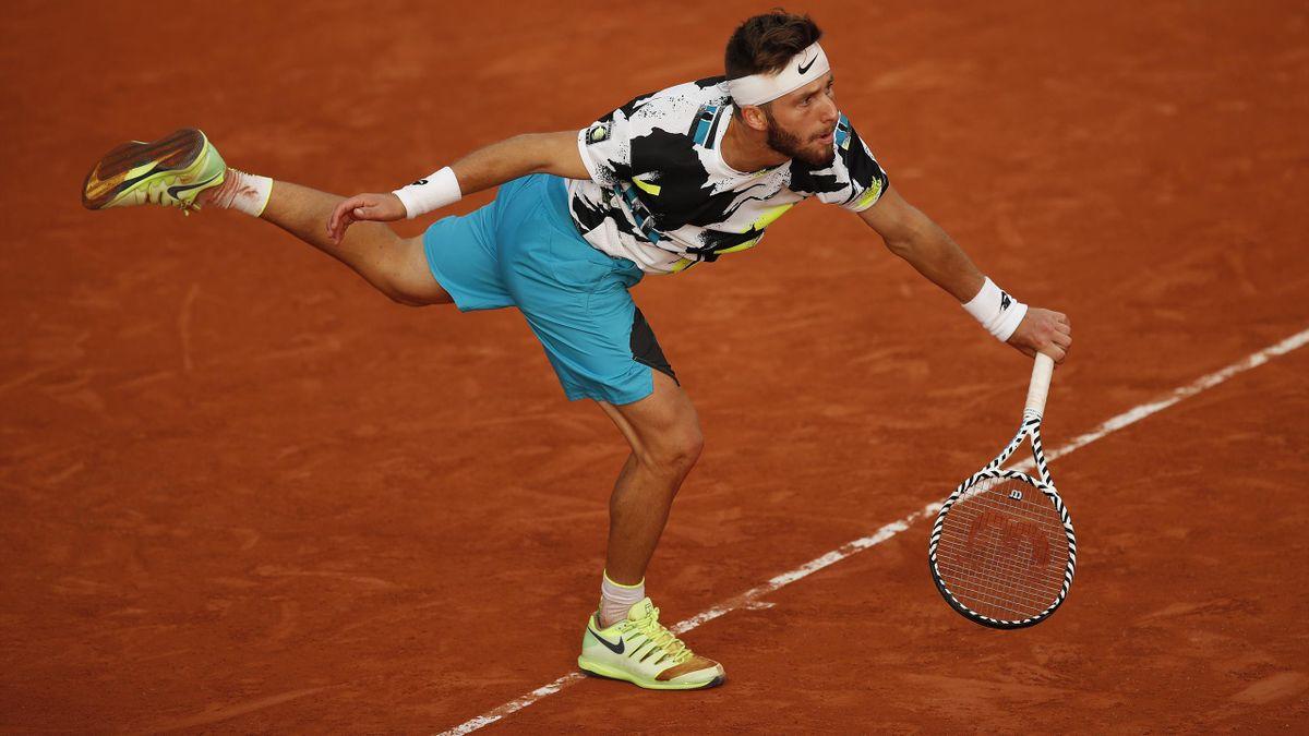 Corentin Moutet à Roland-Garros en 2020