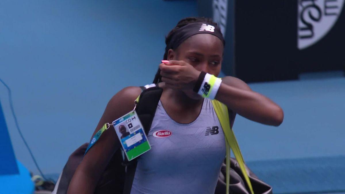 Australian Open: Emotion at the end of Gauff - Kenin