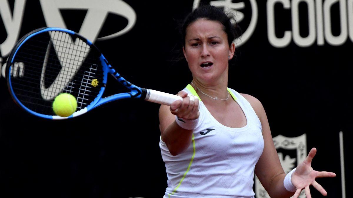 Lara Arruabarrena, durante el torneo de Bogotá en 2019
