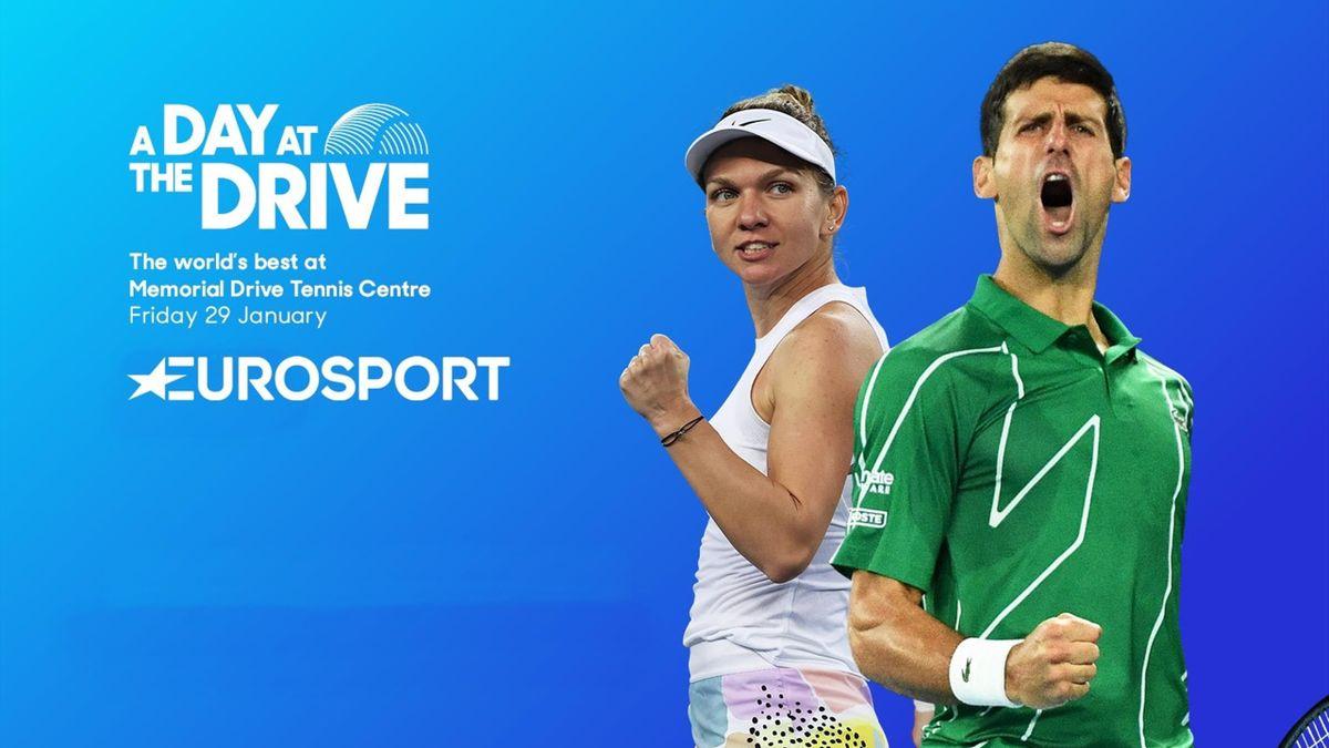 A day at the drive: Simona Halep & Novak Djokovic