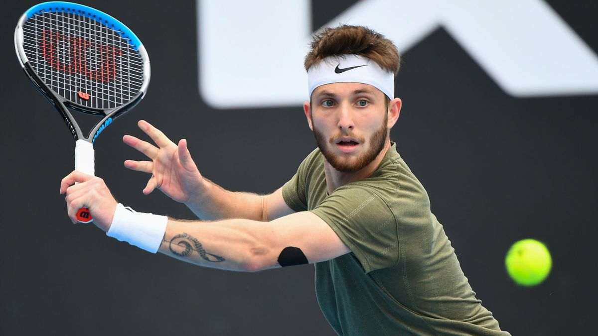 Corentin Moutet lors du Murray River Open à Melbourne en 2021