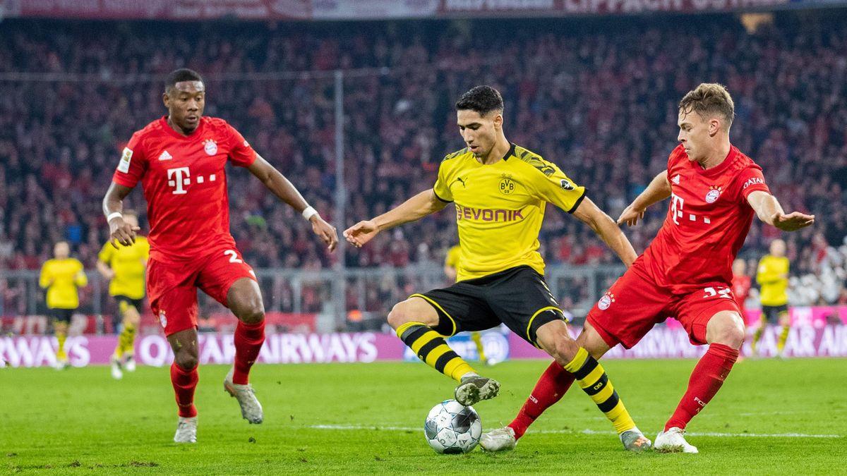 Achraf Hakimi, David Alaba, Joshua Kimmich | FC Bayern - Borussia Dortmund