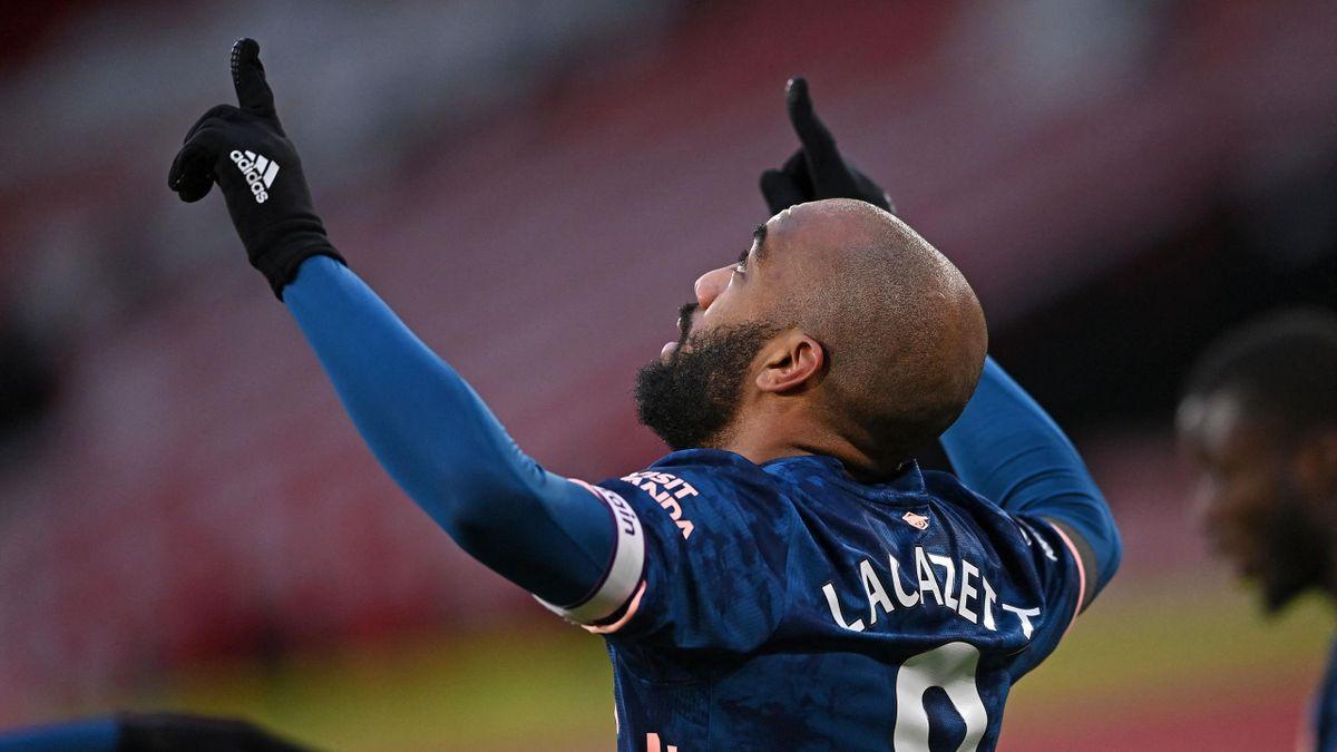 Alexandre Lacazette celebrates