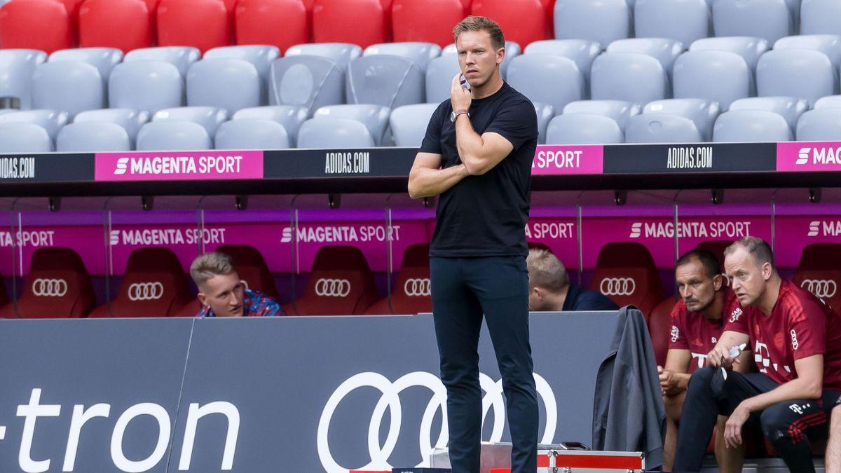Kann sein Pokaldebüt noch im August geben: Bayern-Trainer Julian Nagelsmann